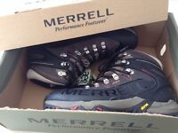 Merrell Gortex boots with Vibran sole, NEW