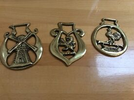 2lovely brass horse brasses