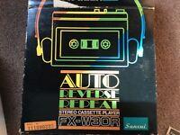 Sansui FX W30R autoreverse personal cassette Player