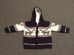 Boys 12-18 months Cherokee Fleece Sweater Coat