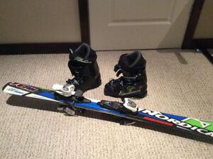 Ski 120 cm et bottes Nordica 268 mm
