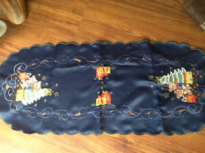 33 by 14 inch brand new embroidered  tables runners  quantity 11