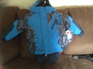2 piece snow suit  size 2