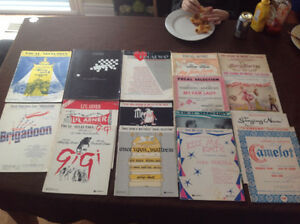 SHOW TUNES VINTAGE SHEET MUSIC
