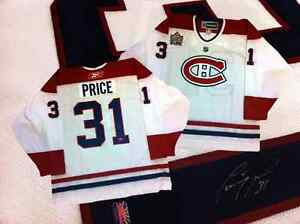 Carey Price, Autographed White Montreal Canadiens jersey