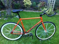 Tangerine dream fixie flip flop road bike