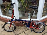 Brompton folding bike as new condition