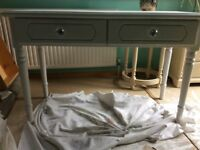White painted desk/dressing table
