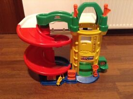 Fisher price little people racing ramps garage