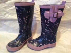 Girls rain boots, size 11