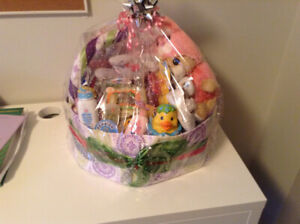 Custom Diaper Cakes- THE GIFT THAT KEEPS GIVING.