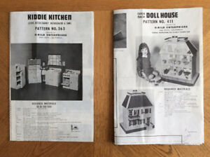5 different Doll house building plans at a BARGAIN PRICE