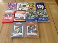 Selection of football and comedy DVD's