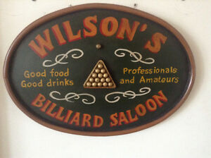 Billiards sign $20.00