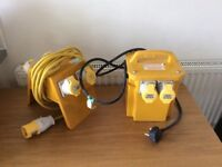 110V Transformer + 110V Splitter + extension lead