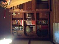 Bibliothèque en cèdre fait par un ébéniste
