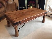 Indian wood coffee table - great condition