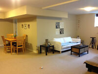 Available Immediately 2 bedroom basement suite.