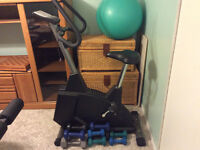 Exercise bike plus free weights