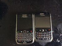 X2 blackberrys 9650 , 8900