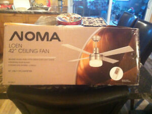 """Noma 42"""" ceiling fan/light with remote"""