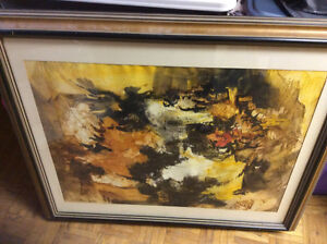 Watercolour Abstract Landscape Signed Peter Goetz New Price