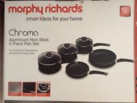 New Morphy Richards Pan set with 6 kitchen tools