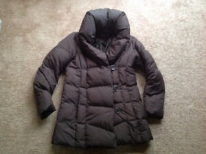 ESPRIT WOMEN'S WINTER DOWN FEATHERS JACKET COAT, BROWN SZ 8