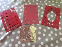 Christmas themed metal embossing plates