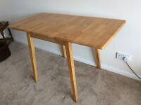 Drop leaf pine table