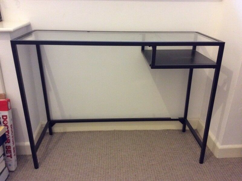 Ikea vittsjo black metal and glass desk in barton hill bristol