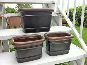 Rectangular Flower Pot Set (3)