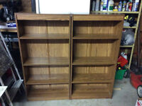 Bookcase book case shelves x2