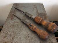 Vintage Marples Large Screwdrivers