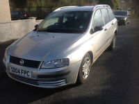 Fiat Stilo 1.6 16v Air Con Active ESTATE . 2004, 1 LADY OWNER FROM NEW .