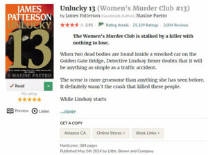 Unlucky 13, James Patterson