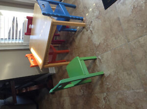 Kid craft table and chairs