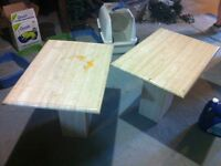 2 Marble End Tables
