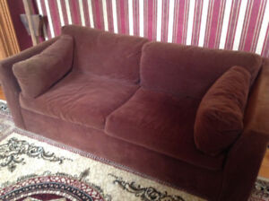 Brown Pullout Couch Sofa Bed Sealy Mattress