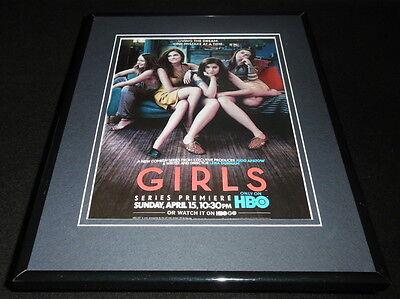 Girls Hbo 2012 Premiere Framed Original Advertisement Lena Dunham Jemima Kirke
