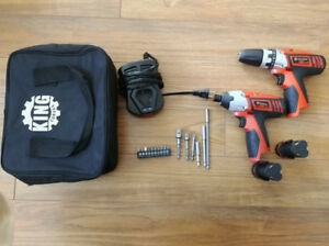 Impact driver and drill set