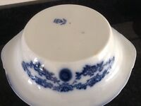 ANTIQUE 1930 SAVOY EPC STOKE ON TRENT. TWO BLUE AND WHITE DISHES.