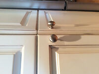 Brushed nickel cabinet knobs