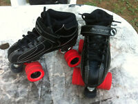 Barely used roller derby skates & pads for sale- size 8