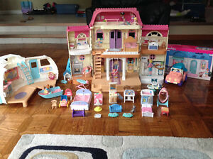 FISHER PRICE Loving Family Doll House & Pet Shop w Accessories