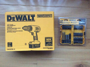 Brand New Unopened 18V Cordless Drill/Driver Kit with 37 Pc Sd.