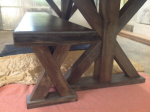 Custom Made Pine Harvest Table (Matching bench is available)