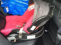 Graco baby car seat Red with isofix