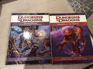 2 Dungeon & Dragon Books - Divine Power & Manual of Planes