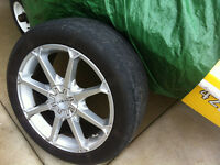 18 inch Rims with electronic sensors, tires, still new, 650 obo